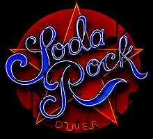 soda rock diner retro neon sign by mark burban