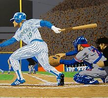 Sports Art - Baseball Art & Paintings - Brewers: Hit and Run 27 x 19 Serigraph by esportsart