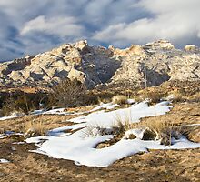 Split Mountain with Snow & Grass by Kim Barton