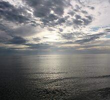 Grey Sky - Naples Beach, Florida by Kristy-Lyn Faircloth