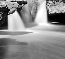 Mckinney Upper Falls B&W by Nick Conde-Dudding