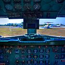 On a DC-7B Flight Deck by njordphoto