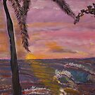 Big Island Sunset  acylic on canvas20x36 by eoconnor