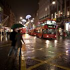 Christmas shopping on Oxford Street by Alexander Davydov