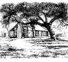 The Log House at the Johnson Settlement by Elaine Bawden