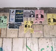 Symbols on the wall (5) - posters in Ibb by Marjolein Katsma