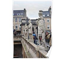 Roman Statues, Bath, UK Poster