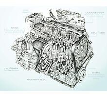 Honda Engine Photographic Print