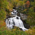 Cullasaja Falls - Autumn Waterfall by Dave Allen