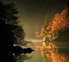 Loch Ard Autumn Glow by David Mould