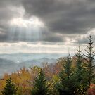 Rays of Light on Blue Ridge Parkway w/ Fall Foliage by Dave Allen