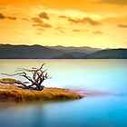 Lake Jocassee Summer Sunset - Blue Ridge Mountains by Dave Allen