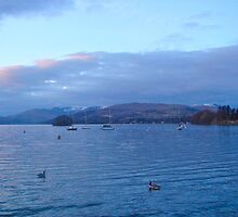 Last snow of spring........ Lake Windermere by marieangel