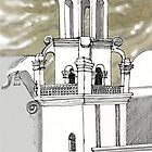 San Xavier Mission East Tower by James Lewis Hamilton