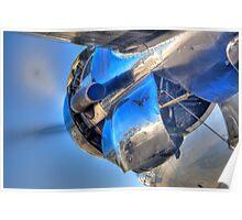 Pratt & Whitney R-2000 on a DC-4 Poster