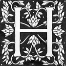 "Art Nouveau ""H"" (under License SOLD) by Donnahuntriss"