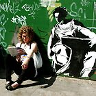 Reading With Banksy by Paula Bielnicka