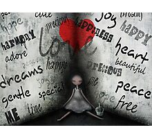 Words from the heart Photographic Print