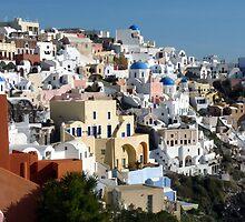 Beautiful Houses of Santorini by Lucinda Walter