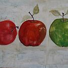 Three Apples by Christine Clarke