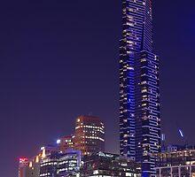 Eureka Tower from Melbourne Aquarium by OldBlue99
