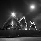 Moonlit Arcs - The Sydney Opera House by dahon