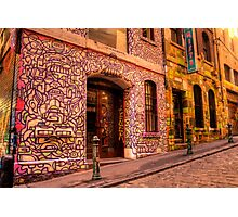 Graffiti in Hosier Lane, Melbourne Photographic Print