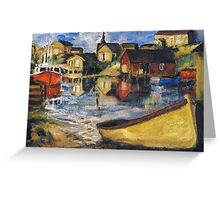 Peggy's Cove Dingy Haul out Greeting Card