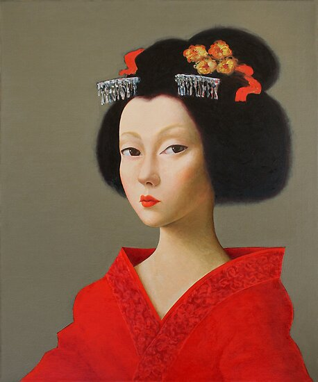 Portrait Art: Portrait of a Geisha (3) by ipalbus-art