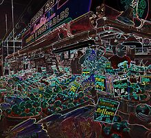 Fruit and Vegetable stall at the famous Pike Place market, Seattle by John Gaffen