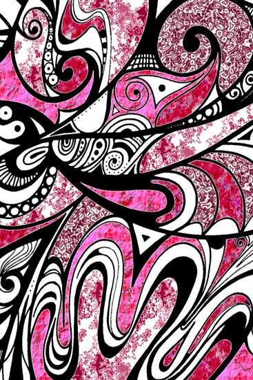 Doodle in Pink by MelDavies