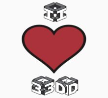 I Love 3D by dangerpowers123