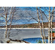 Scenic Views of Lake Sunapee in Winter Photographic Print