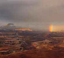 Rainbow over Canyonlands by daskibum