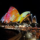 The Opera House under lights by joewdwd