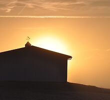 Country outbuilding at dawn by mltrue
