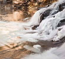 Glowing Sunlight at Butcher Falls by TCrowell