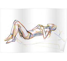 woman sketch Poster