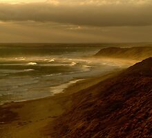Sunset Sunburst, 13th Beach, Surf Coast by Joe  Mortelliti
