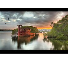 SS Ayrfield Wreck Photographic Print