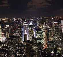 New York - Late Night City by Jeffrey Lamprey