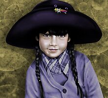 Daddy's Hat (lavander and gold) by Patricia Anne McCarty-Tamayo