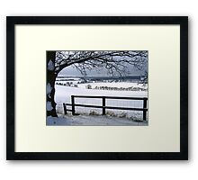 The Stillness and Starkness of a White Winter Framed Print