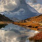 Matterhorn reflected in Lake, Zermatt by Tom Grieve