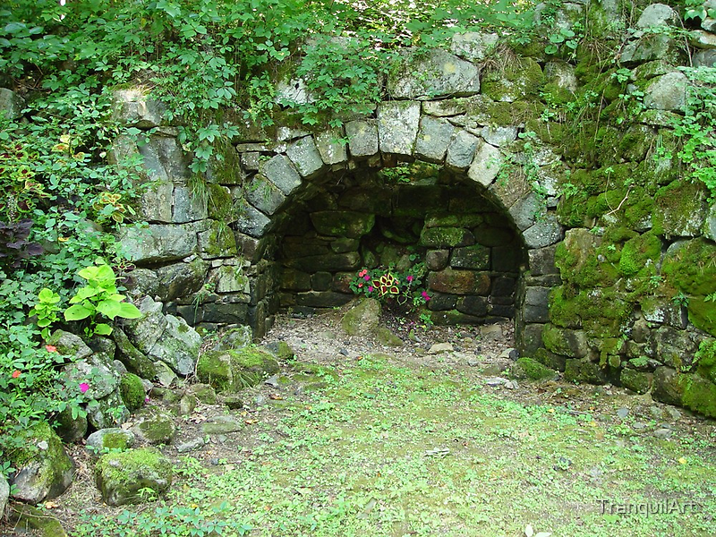 Moss-covered Structure - Built by Native Americans by Christina Spiegeland