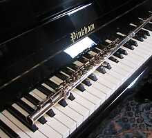 Flute on Piano Keyboard by BlueMoonRose