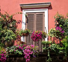 Flower adorned balcony... by hjaynefoster