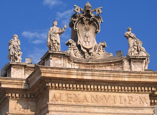 The coat of arms of The Vatican City, Italy by hjaynefoster