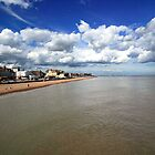 Deal beach from the pier by John Gaffen
