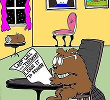 Typical Beaver Living Wills by Londons Times Cartoons by Rick  London
